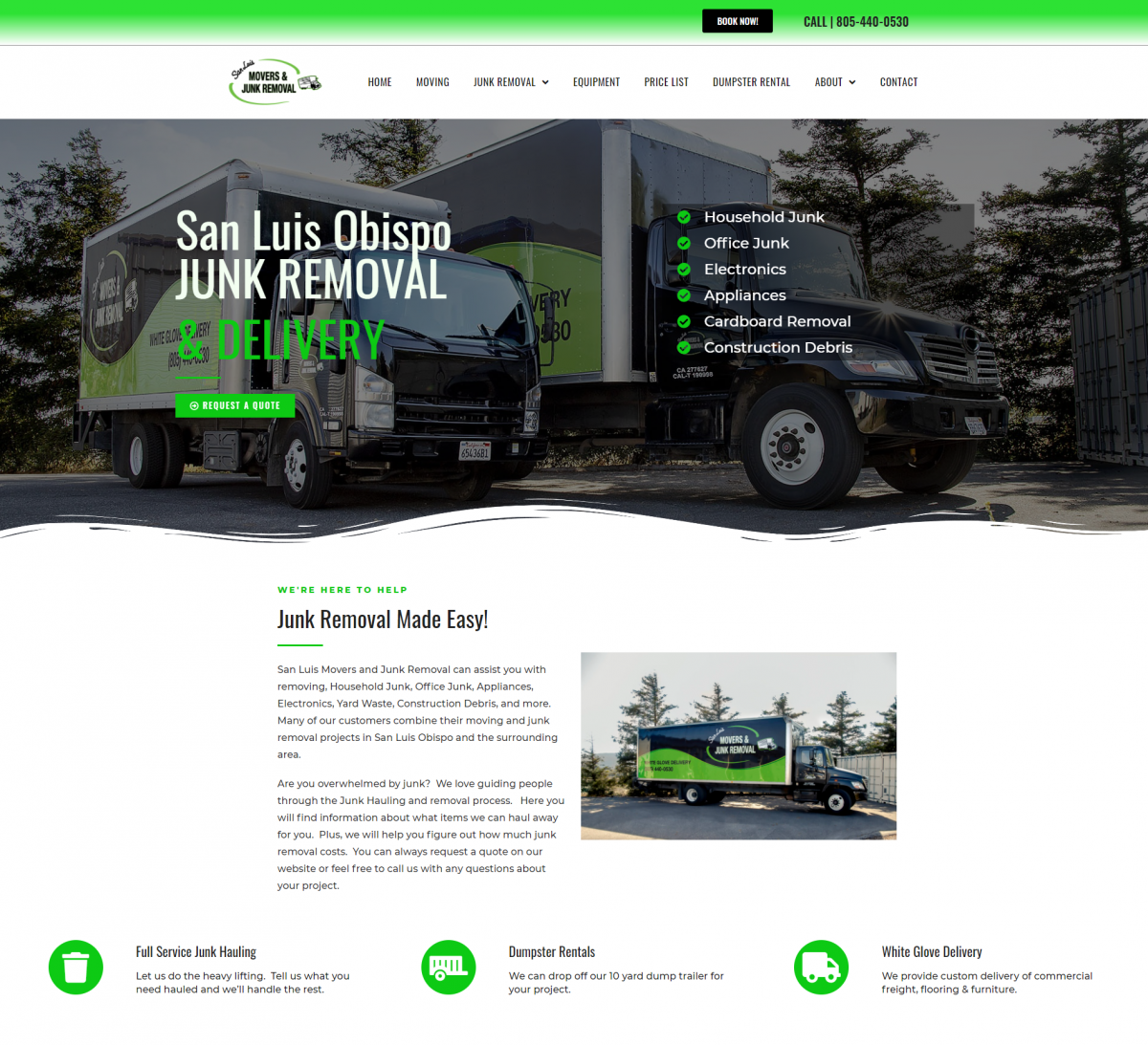 San Luis Movers & Junk Removal Launches A New & Better Website